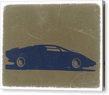 Lamborghini Countach Canvas Print by Naxart Studio