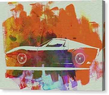 Lamborghini Miura Side 2 Canvas Print by Naxart Studio