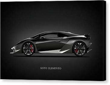 Lamborghini Sesto Elemento Canvas Print by Mark Rogan