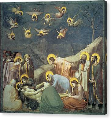 Lamentation Of Christ Canvas Print by Giotto