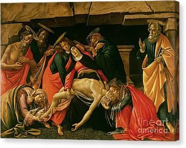 Lamentation Of Christ Canvas Print by Sandro Botticelli