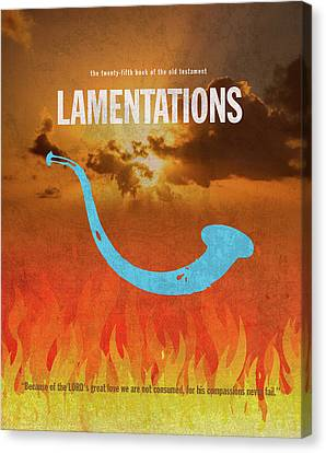 Lamentations Books Of The Bible Series Old Testament Minimal Poster Art Number 25 Canvas Print by Design Turnpike