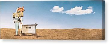 Lamp-lite Motel Canvas Print by Scott Norris