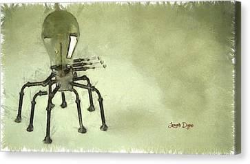 Lampbot Canvas Print by Leonardo Digenio
