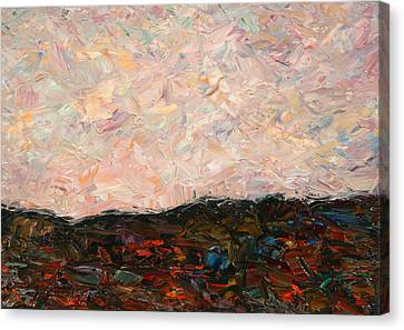 Land And Sky Canvas Print by James W Johnson