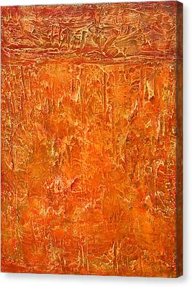 Land In Orange Canvas Print by Habib Ayat
