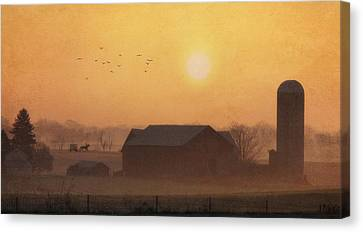 Land Of The Amish Canvas Print by Lori Deiter