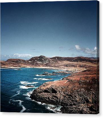 Land On The Edge Of The World - Ardnamurchan #5 Canvas Print by Kate Morton