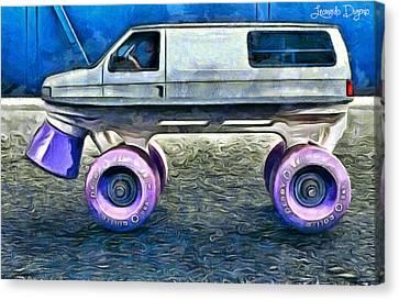 Land Roller - Da Canvas Print by Leonardo Digenio