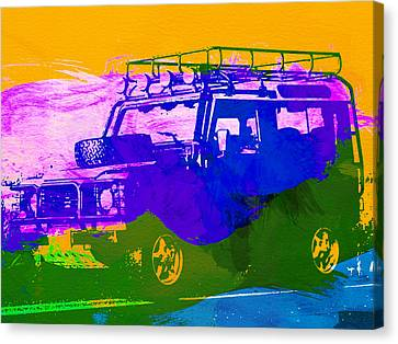 Land Rove Defender Canvas Print by Naxart Studio