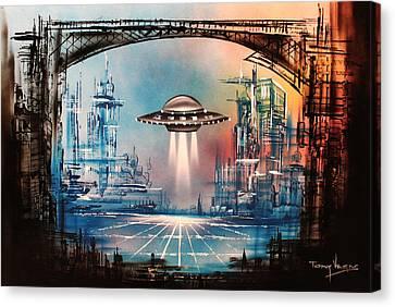 Landing Home Canvas Print by Tony Vegas