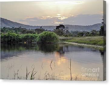 Landscape African  Lake Canvas Print by Ornella Bonomini