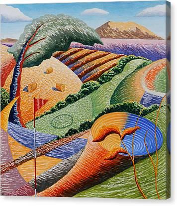 Landscape Funnel Canvas Print by Adrian Jones