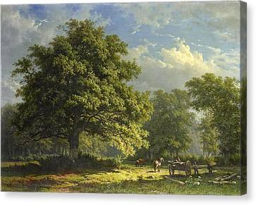 Landscape Canvas Print by George Andries Roth
