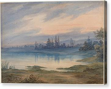 Landscape Near Strasbourg Looking Toward St Gall Canvas Print by W Van Detta