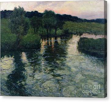 Landscape With A River Canvas Print by Fritz Thaulow