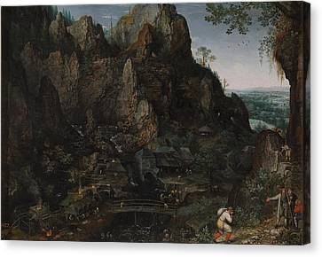 Landscape With Ironworks Canvas Print by MotionAge Designs