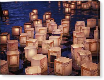 Lantern Floating Ceremony Canvas Print by Brandon Tabiolo - Printscapes