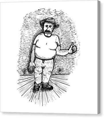 Large Man Canvas Print by Karl Addison