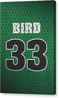 Larry Bird Boston Celtics Retro Vintage Jersey Closeup Graphic Design Canvas Print by Design Turnpike