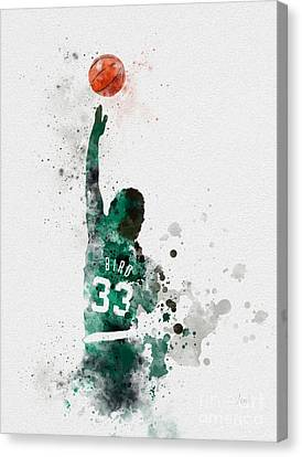 Larry Bird Canvas Print by Rebecca Jenkins