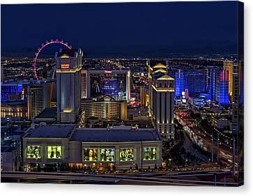 Las Vegas Aerial View Canvas Print by Susan Candelario