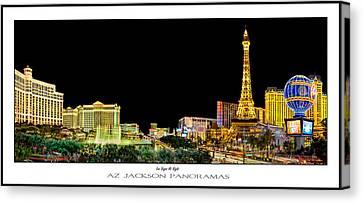 Las Vegas At Night Poster Print Canvas Print by Az Jackson