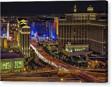 Las Vegas Strip Aerial View - Canvas Print by Susan Candelario