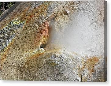 Lassen Volcanic National Park - Living Museum Of Vulcanism Canvas Print by Christine Till
