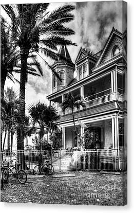 Last House In Key West Bw Canvas Print by Mel Steinhauer