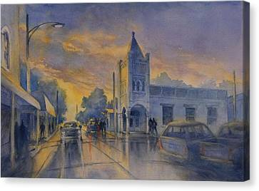 Last Light, High Street At Seventh Canvas Print by Virgil Carter