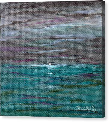 Last Mood Of The Sea Canvas Print by Donna Blackhall
