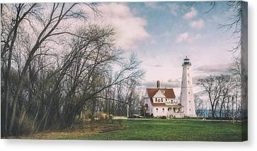 Late Afternoon At The Lighthouse Canvas Print by Scott Norris