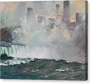 Late Afternoon In Niagara Falls Canvas Print by Ylli Haruni