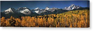 Late Night Sandwich In The Sneffels Wilderness Canvas Print by Mike Berenson