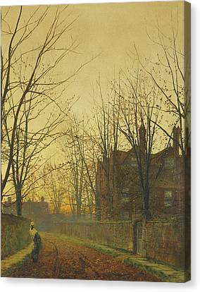 Late October Canvas Print by John Atkinson Grimshaw