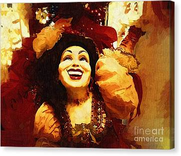 Laughing Gypsy Canvas Print by Deborah MacQuarrie-Haig