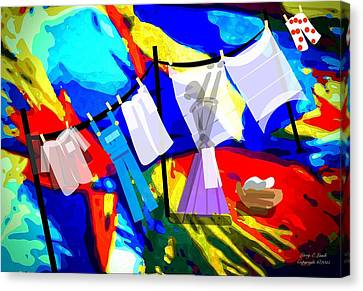 Laundry Day Canvas Print by Larry Lamb