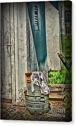 Laundry Day The Old Fashion Way Canvas Print by Paul Ward