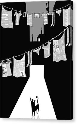 Laundry Canvas Print by Andrew Hitchen