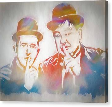 Laurel And Hardy Canvas Print by Dan Sproul