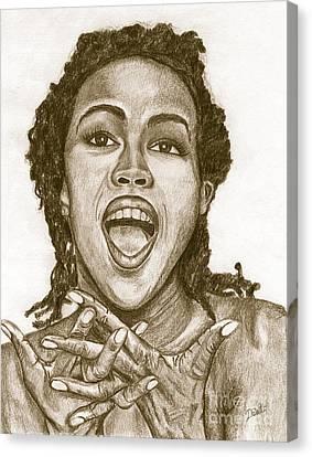 Lauryn Hill Canvas Print by Debbie DeWitt