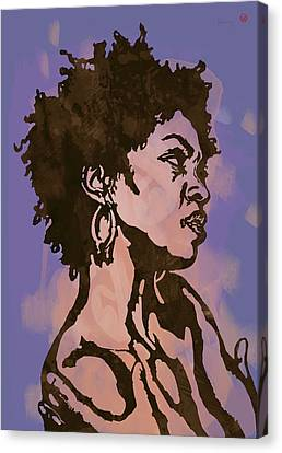 Lauryn Hill Pop Stylised Art Sketch Poster Canvas Print by Kim Wang