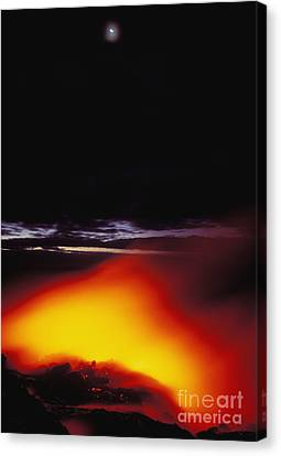 Lava And Moon Canvas Print by William Waterfall - Printscapes