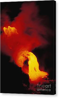 Lava Into The Sea Canvas Print by Allan Seiden - Printscapes