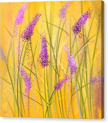 Lavender Beauties Canvas Print by Lourry Legarde