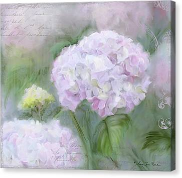 Lavender Hydrangea Romantic Garden Canvas Print by Audrey Jeanne Roberts