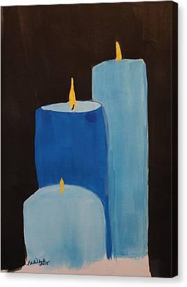 Law Enforcement Candle Tribute Canvas Print by Elizabeth Kilbride