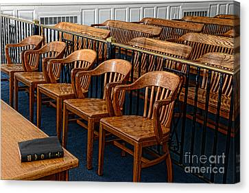 Lawyer - The Courtroom Canvas Print by Paul Ward