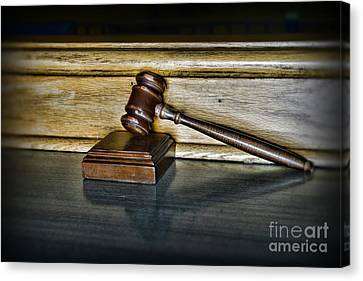 Lawyer - The Judge's Gavel Canvas Print by Paul Ward